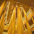 Myanmar. Mandalay. Bo Bo Gyi Nat Shrine. Colonnade. by vadim19