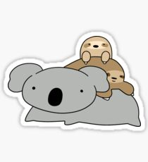 Koala and Sloths Sticker