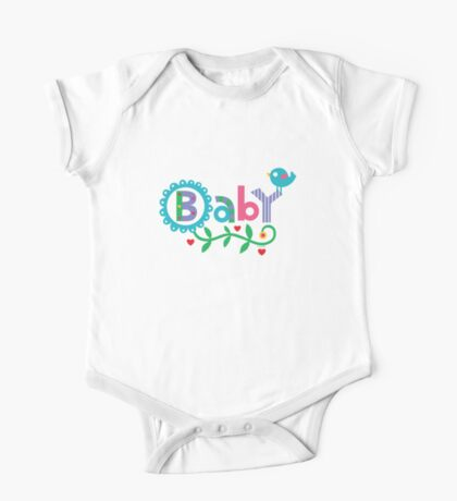 Baby and Bird - on lights Kids Clothes