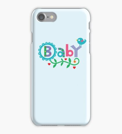 Baby and Bird - on lights iPhone Case/Skin