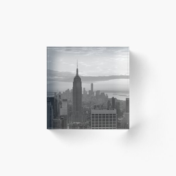 Lower Manhattan - from Top of the Rock   Acrylic Block