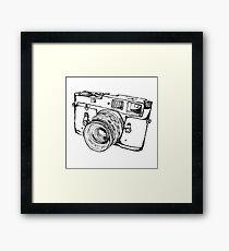 Rangefinder Style Camera Drawing Framed Print