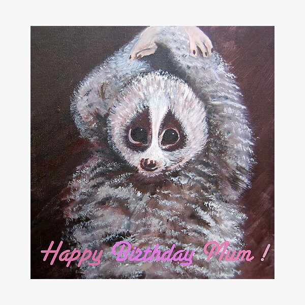 Happy Birthday Mum! Lemur Photographic Print