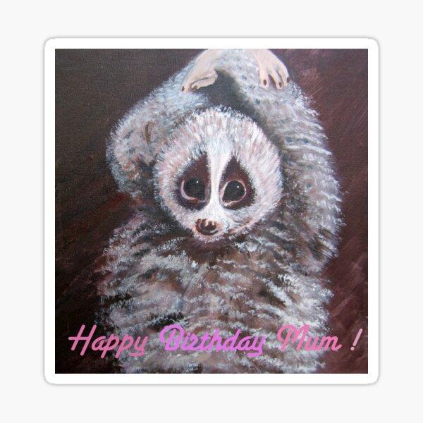 Happy Birthday Mum! Lemur Sticker