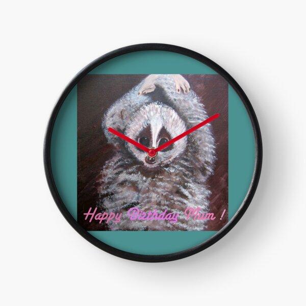 Happy Birthday Mum! Lemur Clock