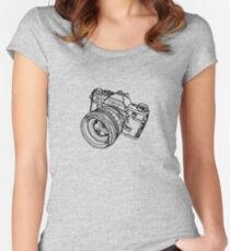 Classic SLR Camera Women's Fitted Scoop T-Shirt