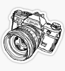 Classic SLR Camera Sticker