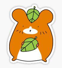 Leaf Hamster Sticker