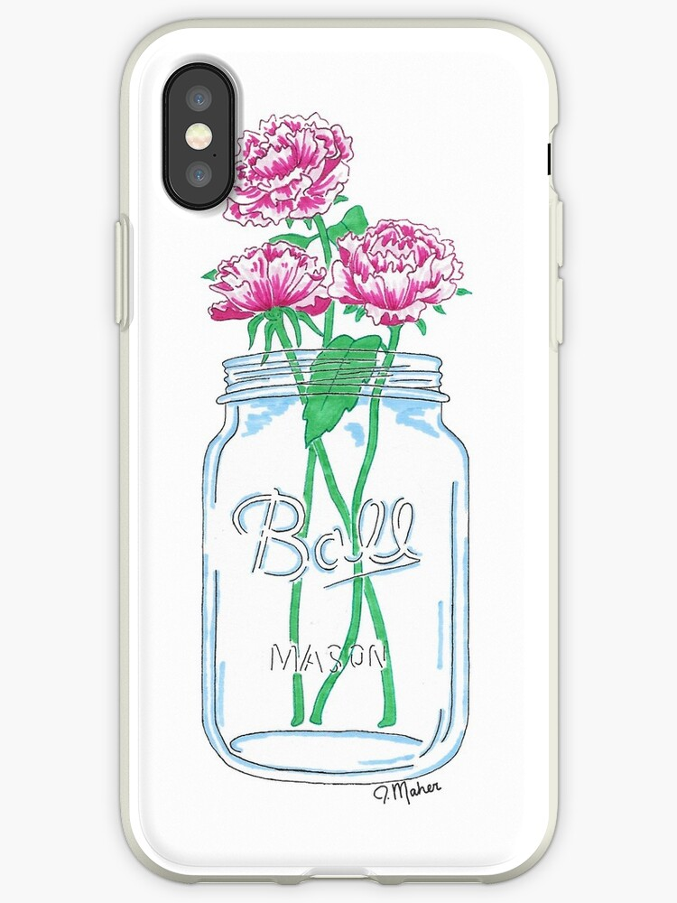 100% authentic a2457 12ab9 'Mason Jar Flowers' iPhone Case by Jamie Maher