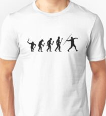 The Evolution Of Man And Javelin Unisex T-Shirt