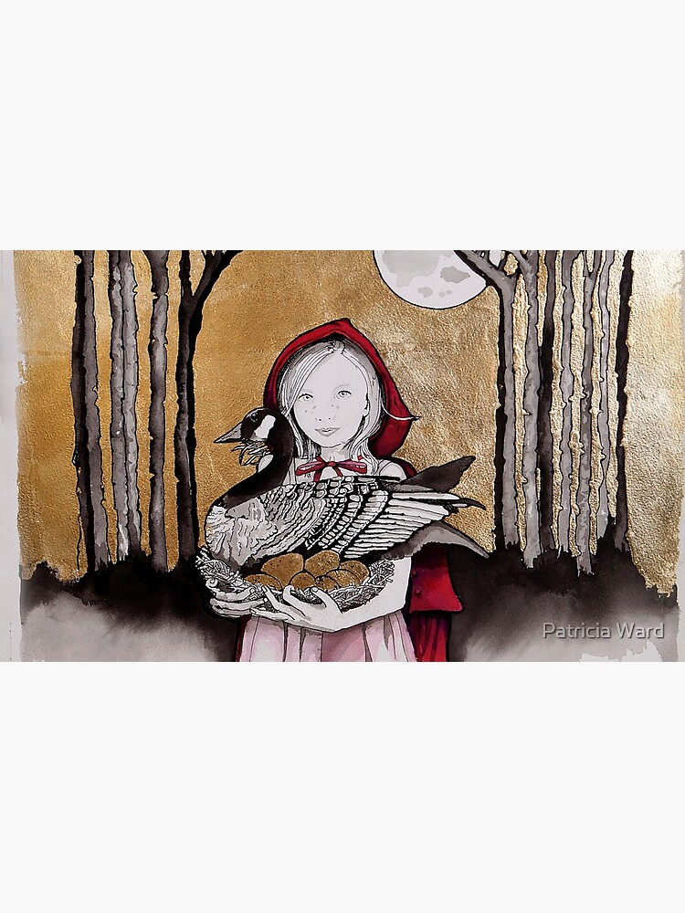 Little Red steals the Goose that laid the golden eggs (and they live happily ever after) by TrishWardart