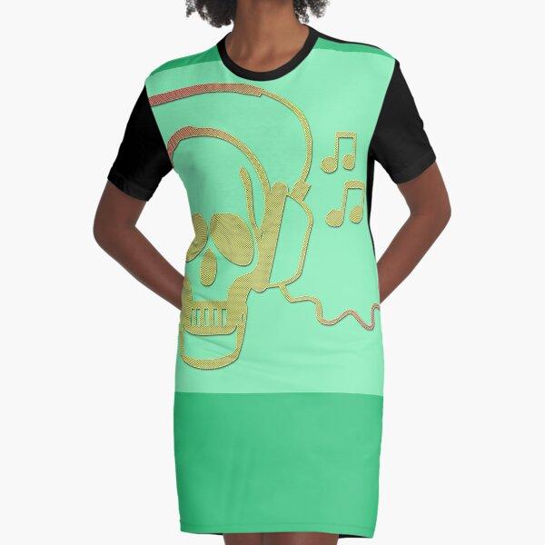 Rockskull green T-Shirt Kleid