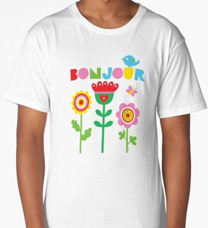 Bonjour - on lights Long T-Shirt