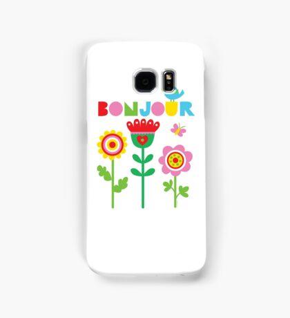 Bonjour - on lights Samsung Galaxy Case/Skin