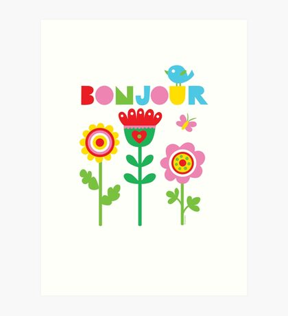 Bonjour - on lights Art Print