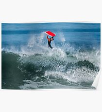 Bodyboarder in action Poster