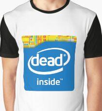 Camiseta gráfica Muerto en el interior