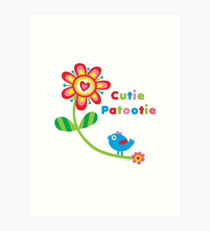 Cutie Patootie - on lights Art Print