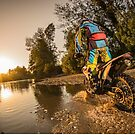 Enduro bike rider by homydesign