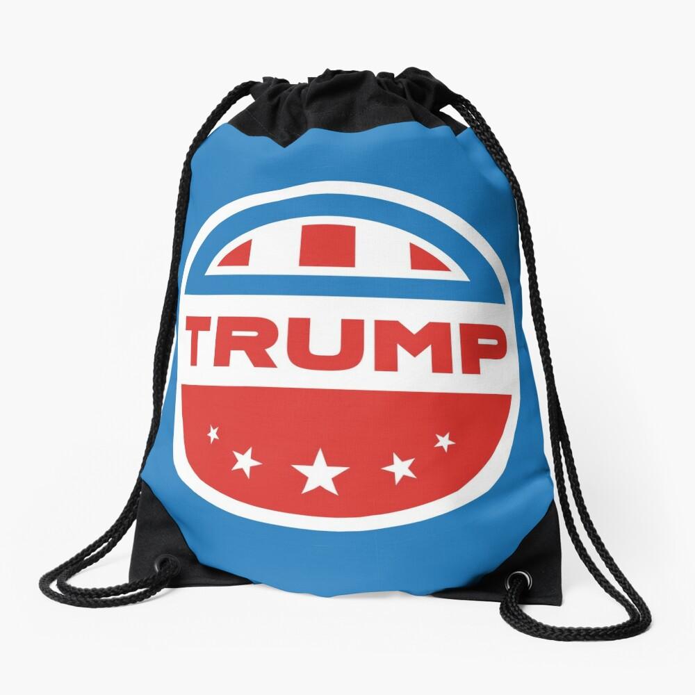 Trump American flag Drawstring Bag