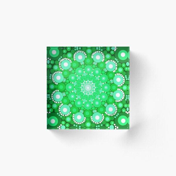 Emerald Mandala Acrylic Block
