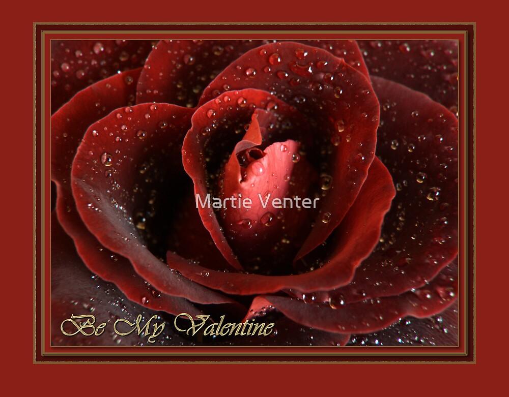 Rose Valentine Card II by Martie Venter