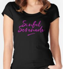 Sinful Serenade Band Apparel Women's Fitted Scoop T-Shirt