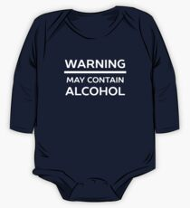 Funny Warning May Contain Alcohol One Piece - Long Sleeve