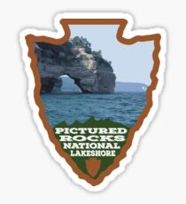 Pictured Rocks National Lakeshore arrowhead Sticker