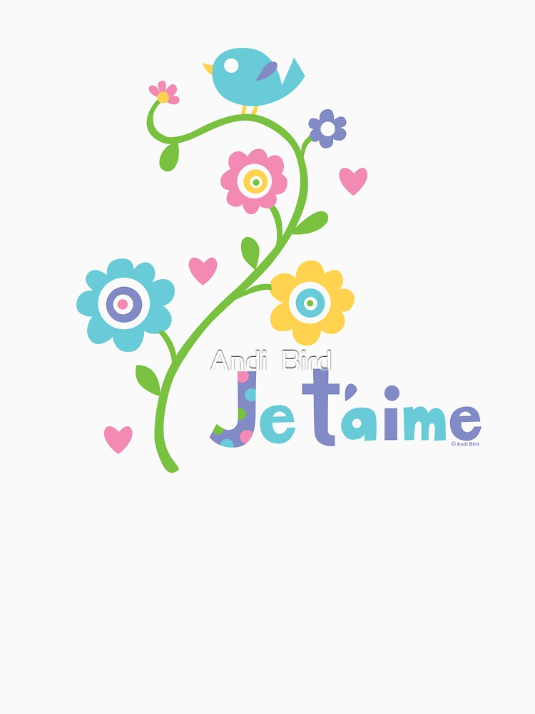 je t'aime - i love you - lights by andibird