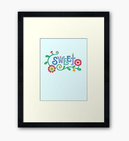 Sweet  Framed Print