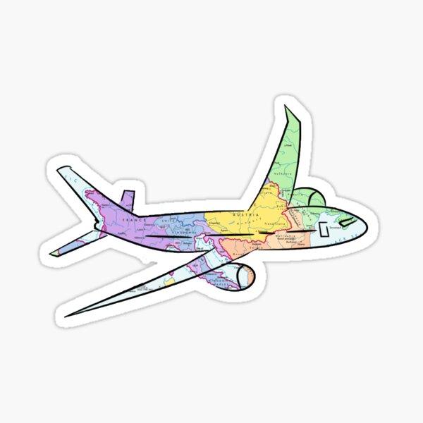 Mapa del aeroplano Pegatina