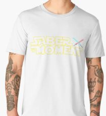 Saber The Moment Funny Star Wars Day Men's Premium T-Shirt