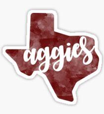 Aggies Texas Watercolor Sticker