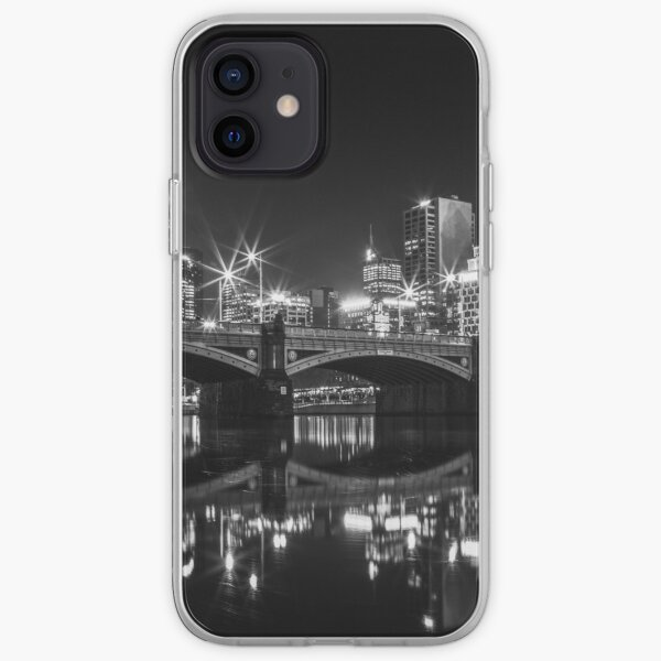 Princes bridge in BnW iPhone Soft Case