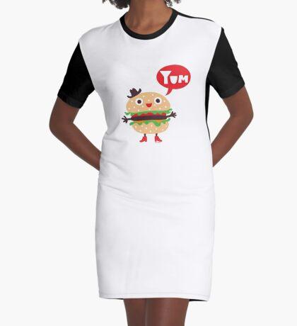 Cheeseburger yum Graphic T-Shirt Dress