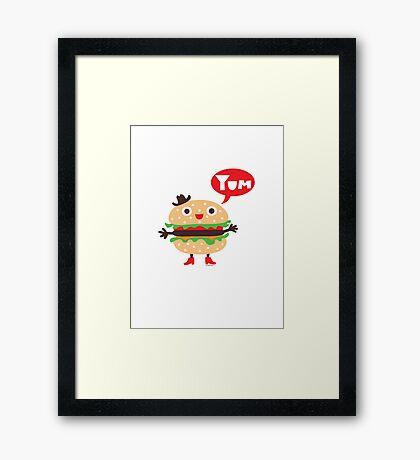 Cheeseburger yum Framed Print