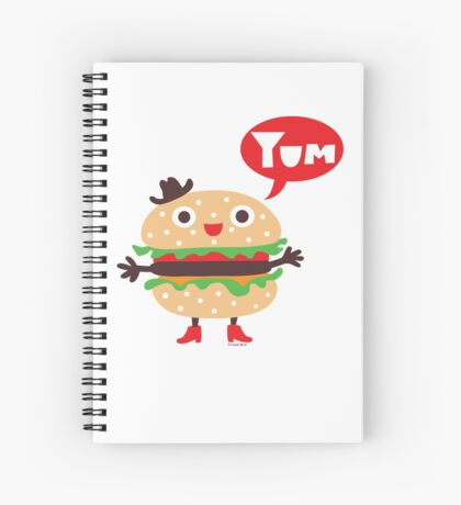 Cheeseburger yum Spiral Notebook