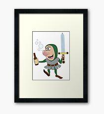 Drunken RPG Knight! Framed Print