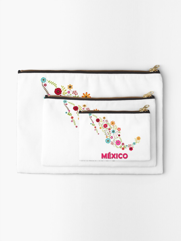 Vista alternativa de Bolsos de mano Mexico map flowers