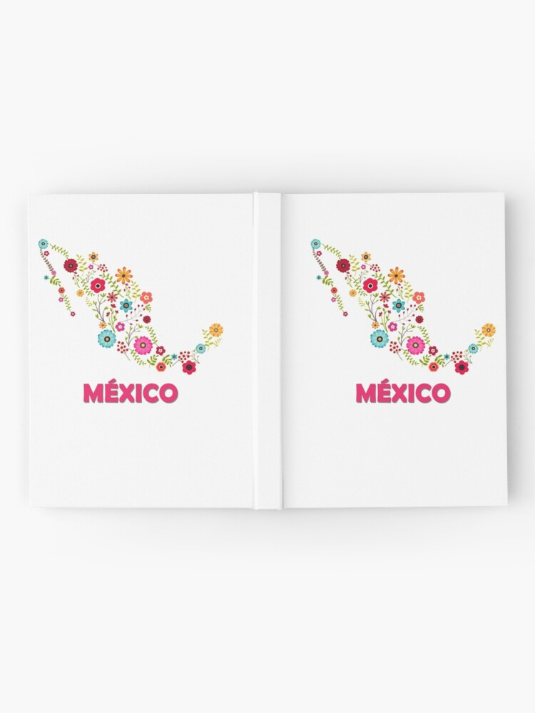 Vista alternativa de Cuaderno de tapa dura Mexico map flowers