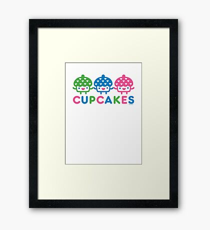 cupcake Fun light Framed Print