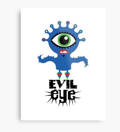 Evil Eye - on lights  Metal Print