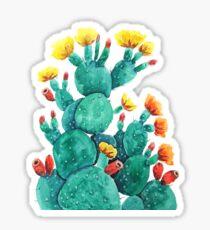 flowering cactus watercolor arts  Sticker