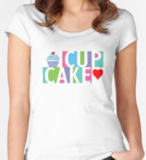 Cupcake love pink 4 Women's Fitted Scoop T-Shirt