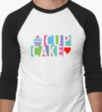 Cupcake love pink 4 Men's Baseball ¾ T-Shirt