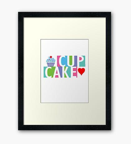 Cupcake love pink 4 Framed Print