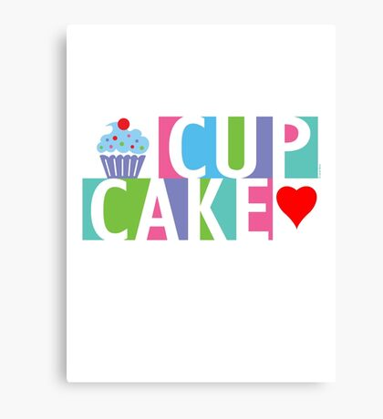 Cupcake love pink 4 Canvas Print