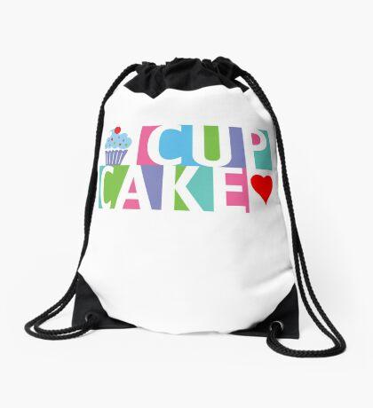 Cupcake love pink 4 Drawstring Bag