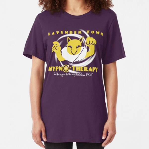 Lavender Town Hypno-Therapy Slim Fit T-Shirt